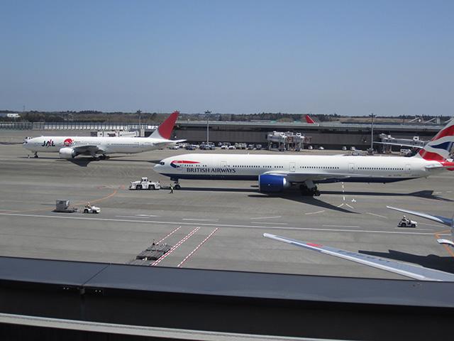 成田空港の展望デッキ