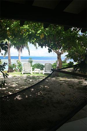 フィジーマタマノアのお部屋前からの景色
