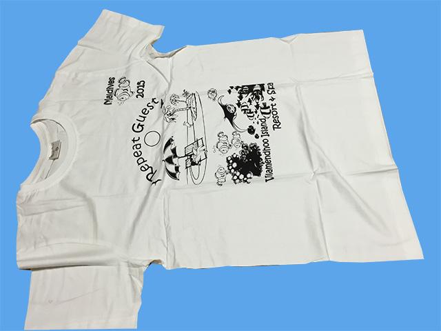 ヴィラメンドゥのリピーターサービスのTシャツ