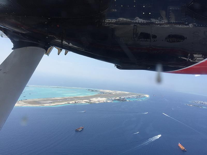 水上飛行機からの景色
