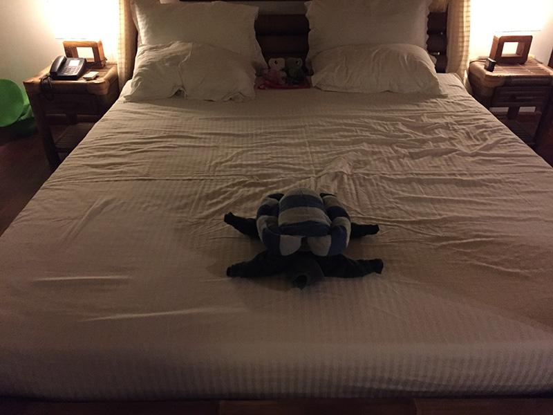 タオルのベッドメイキング