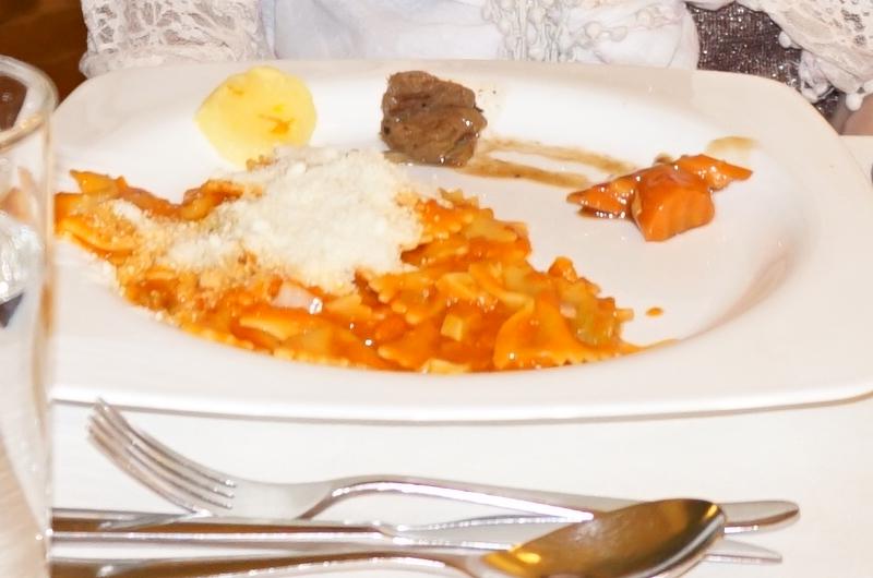 サファリアイランドの夕食・パスタ